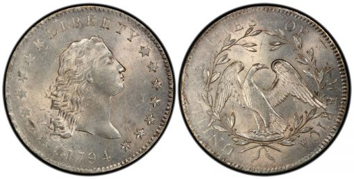 1794 Flowing Hair Silver Dollar