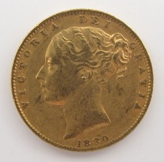 1880 Australian Gold Imperial Sovereign