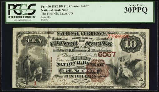 Eaton, CO - $10 1882 Brown Back