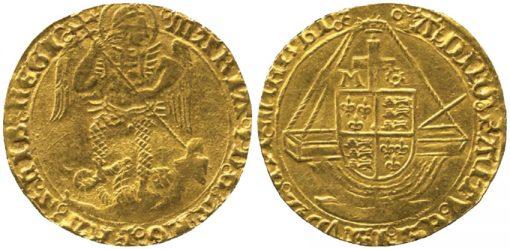Elizabeth I (1558-1603), Gold Angel coin