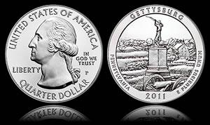 Gettysburg 5 Oz Silver Uncirculated Coin