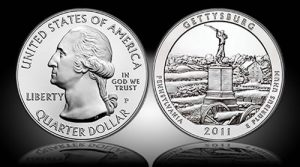Gettysburg 5 Oz Silver Uncirculated Coin