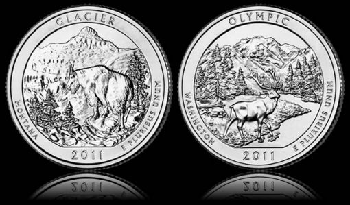 Glacier and Olympic National Park Coins