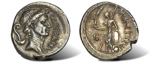 Julius Caesar as Dictator (49-44 BC) AR denarius ancient coin