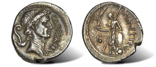 Julius Caesar as Dictator (49-44 BC) AR denarius ancient coin