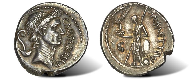 Roman ides of march ancient coin sets record at heritage long julius caesar as dictator 49 44 bc ar denarius ancient coin freerunsca Images