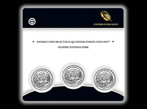 Olympic Quarter Three-Coin Set