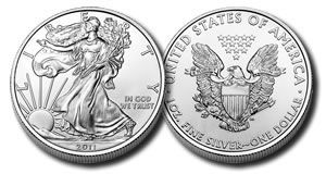 U.S. Mint bullion Silver Eagle coin