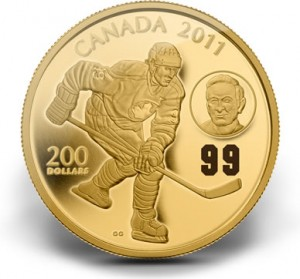 2011 $200 Wayne and Walter Gretzky Gold Coin