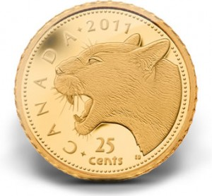 2011 25-Cent Cougar Gold Coin