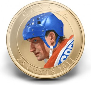 2011 25-Cent Wayne Gretzky Coloured Coin
