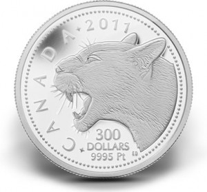 2011 $300 Cougar Platinum Coin