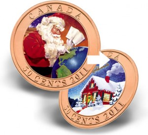 2011 50-Cent Holiday Santa Coin