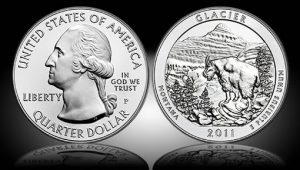 2011-P Glacier National Park Five Ounce Silver Uncirculated Coin