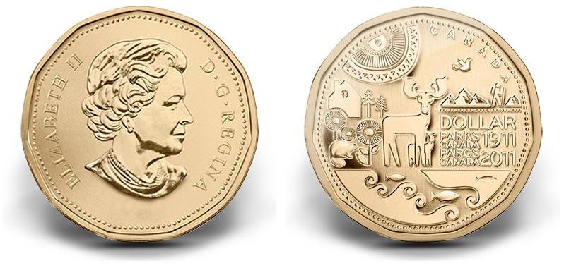 2017 Parks Canada Centennial 1 Circulation Coin