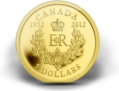 2012 $5 Royal Cypher Diamond Jubilee Gold Coin