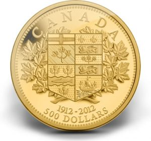 2012 $500 100th Anniversary of First Canadian Gold Coin