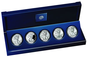 American Silver Eagle 25th Anniversary Set