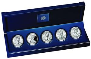 American Silver Eagle 25th Anniversary Set