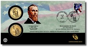 Hayes Presidential Dollar Coin Cover