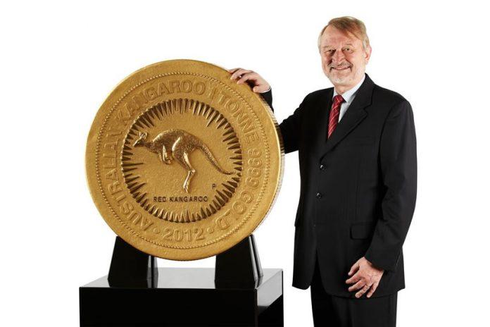 Perth Mint 1 Tonne Australian Gold Kangaroo Coin