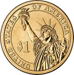 Reverse of Presidential $1 Coin