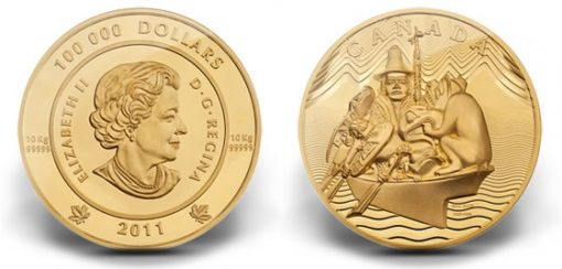 Royal Canadian Mint 10-Kilo 99.999 Pure Gold Coin