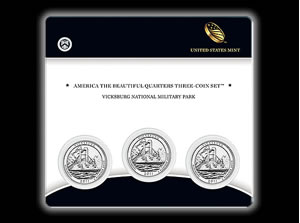 Vicksburg Quarter Three-Coin Set