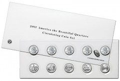 2011 America the Beautiful Quarters Circulating Coin Set