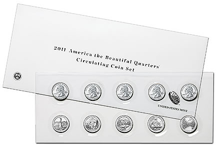 2011 America the Beautiful Quarters Circulating Coin Set
