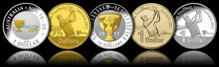2011 The Presidents Cup Coins