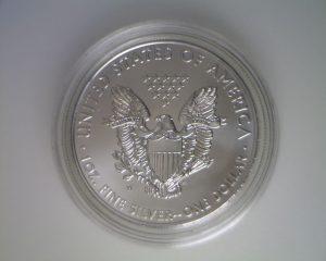 2011-W Uncirculated American Silver Eagle (reverse)