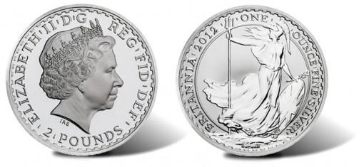 2012 Britannia Silver Bullion Coin