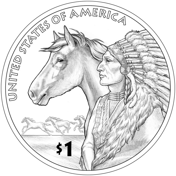 United States Mint Image of the 2012 Native American $1 Coin Design