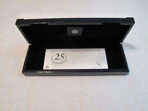 American Silver Eagle 25th Anniversary Set Case and Certificate