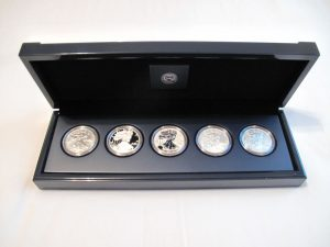 American Silver Eagle 25th Anniversary Set - Opened Case