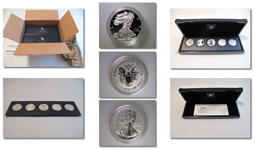 American Silver Eagle 25th Anniversary Set Photos