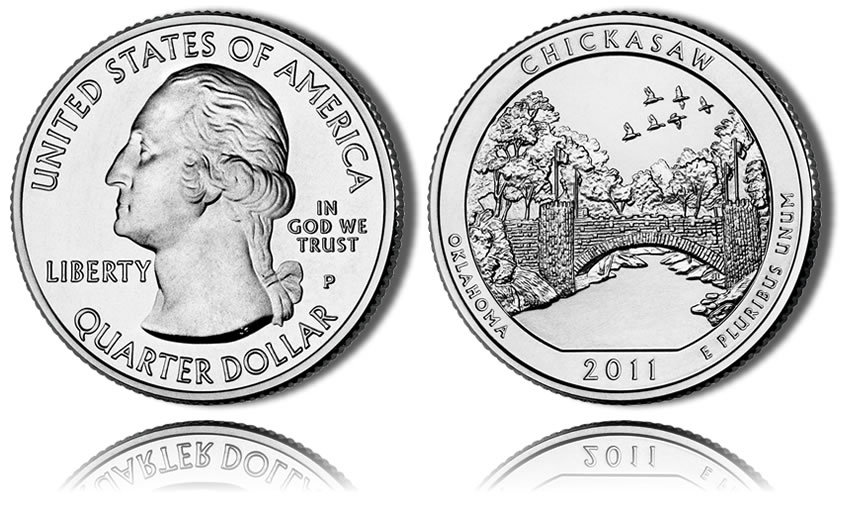 2011-D Uncirculated Chickasaw National Recreation Area Park Quarter Single