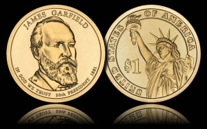 James A. Garfield Presidential $1 Coin