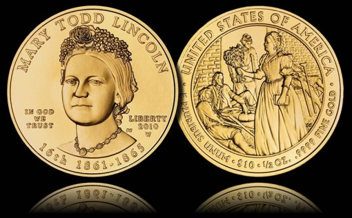 Uncirculated Mary Todd Lincoln First Spouse Gold Coin