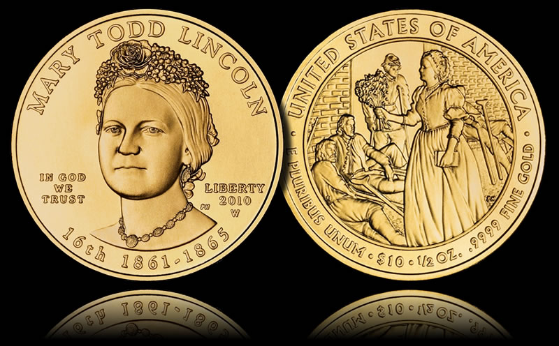 Medalje - Page 2 Uncirculated-Mary-Todd-Lincoln-First-Spouse-Gold-Coin