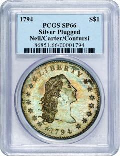1794 $1 PCGS SP66
