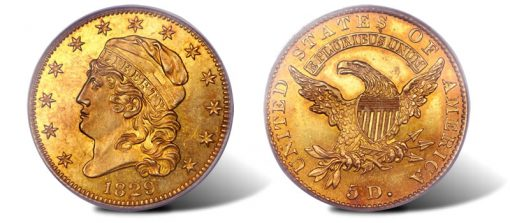 1829 BD-1 Large Date Half Eagle