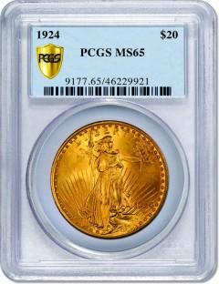 1924 $20 MS65 Saint-Gaudens Double Eagle