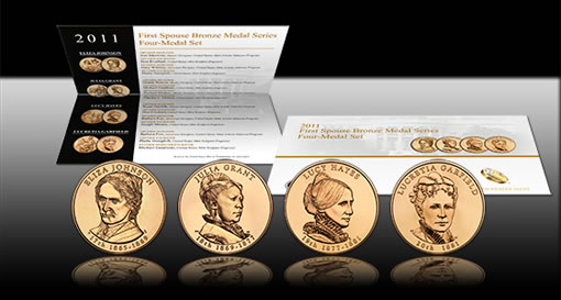 2011 First Spouse Bronze Four-Medal Set