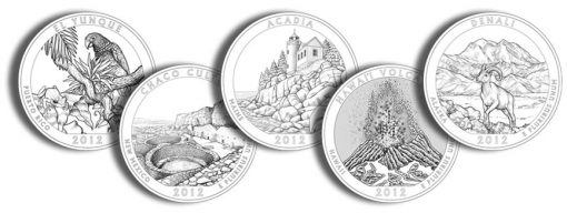 2012 America the Beautiful Quarters and Silver Coins Designs