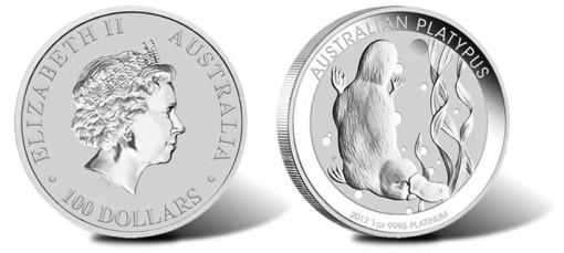 2012 Australian Platypus Platinum Bullion Coin