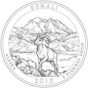 Denali National Park Quarter and Silver Coin Design