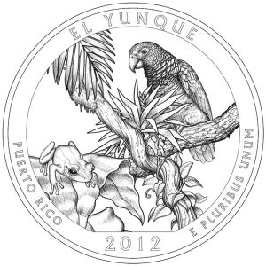 El Yunque National Forest Quarter and Silver Coin Design