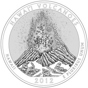Hawai'i Volcanoes National Park Quarter and Silver Coin Design